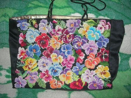 Сумка . . Вышивальный конкурс 'Я цветочки вышивала...'