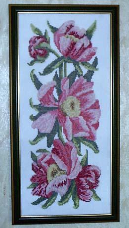 Золотое Руно - Пионы. Вышивальный конкурс 'Я цветочки вышивала...'
