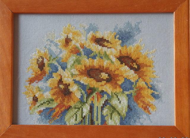 'Sunflowers' от Lanarte. Вышивальный конкурс 'Я цветочки вышивала...'