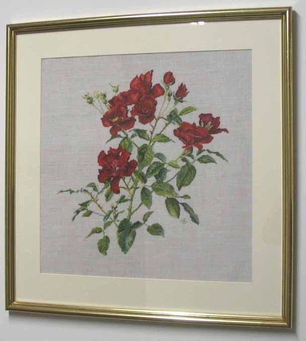 Thea Gouverneur № 411 Fervid. Вышивальный конкурс 'Я цветочки вышивала...'