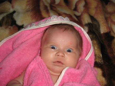 после ванны. Я родился!
