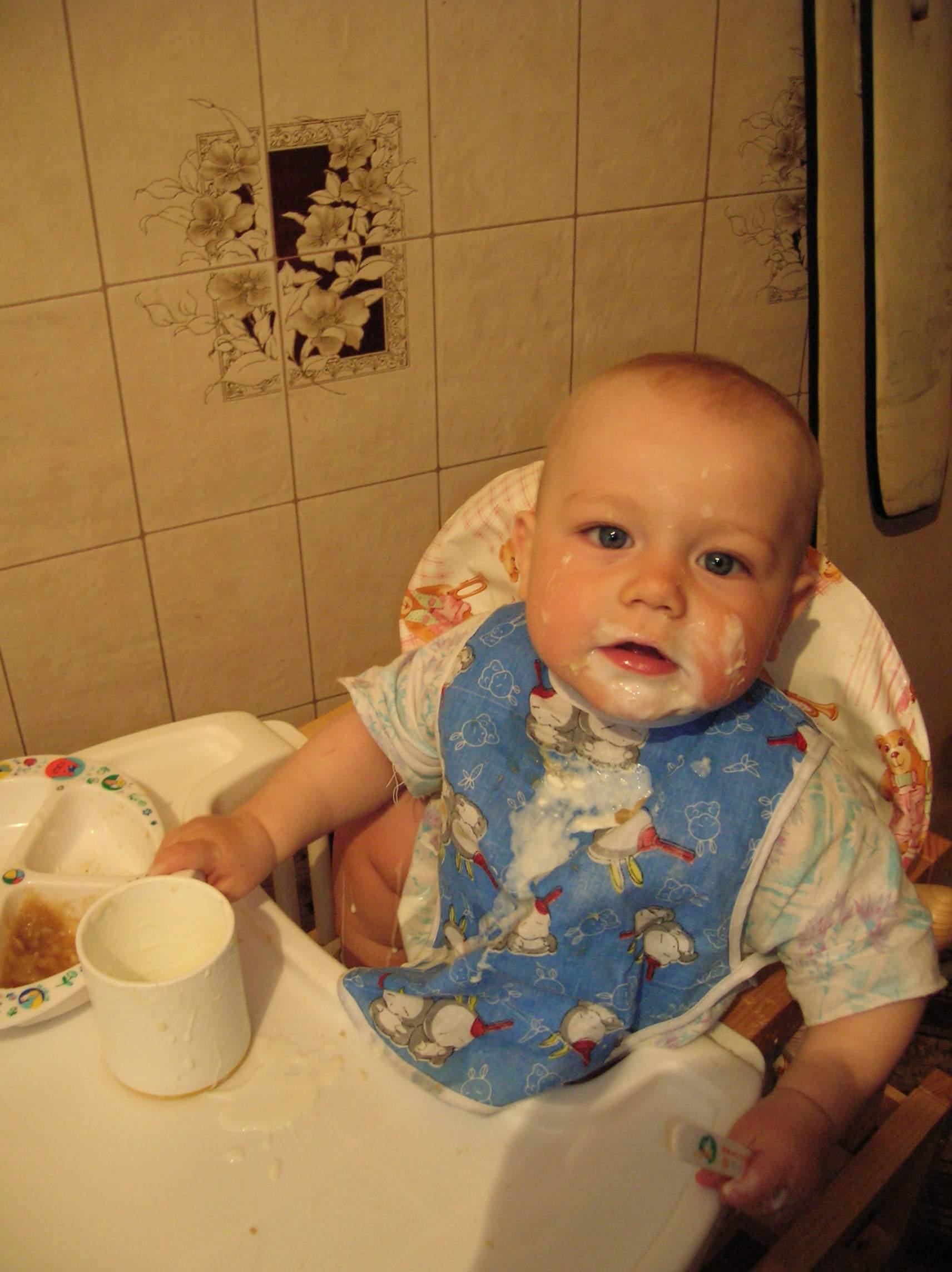 вот это я поел!.... Крошка с ложкой