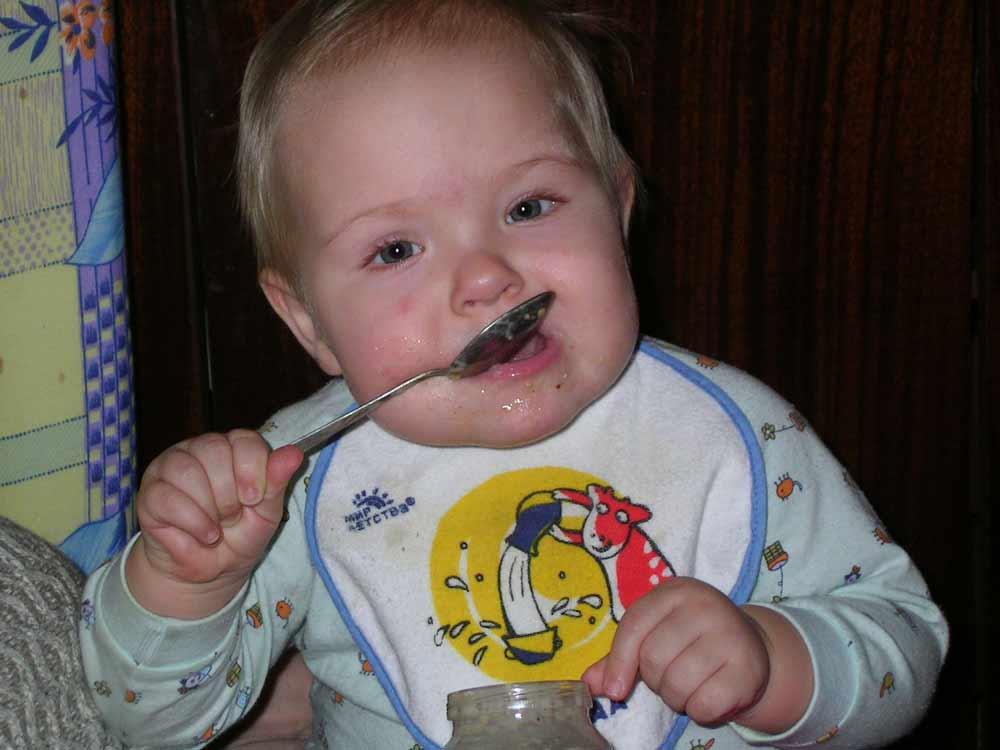 Ну... очень вкусное пюре.. Крошка с ложкой