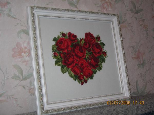 Сердце из роз. Рукодельный конкурс 'Весна идет'