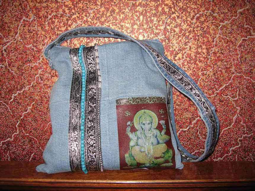джинсовая,в индийском стиле. Сумки, мешки для подарков