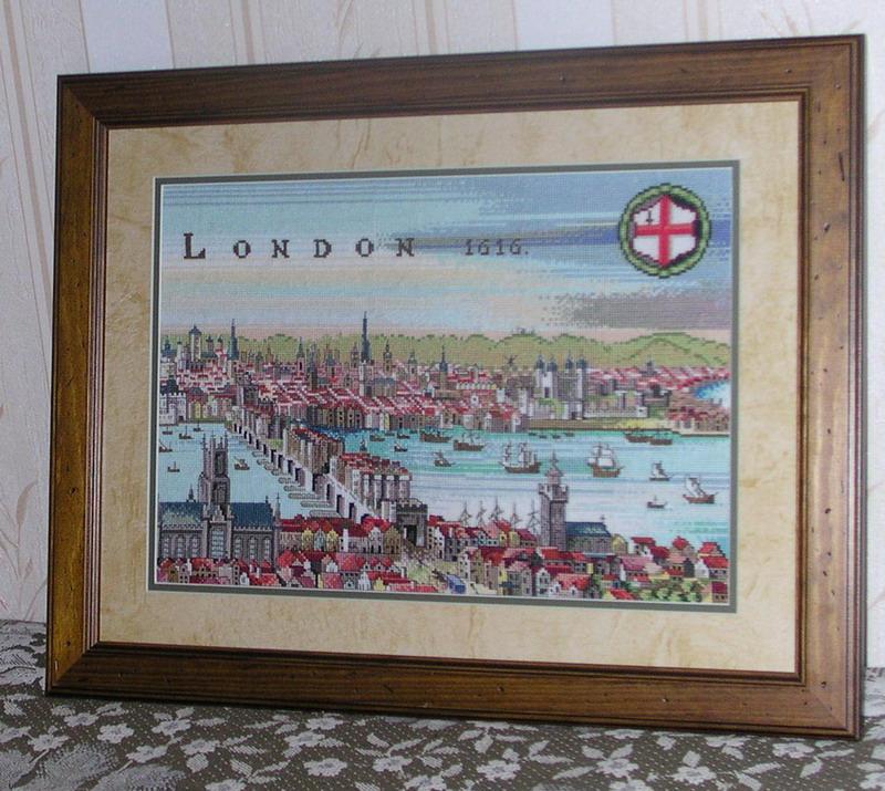 'Лондон-1616' от Евы Розенштадт. Конкурс вышитых работ 'Пейзажи'