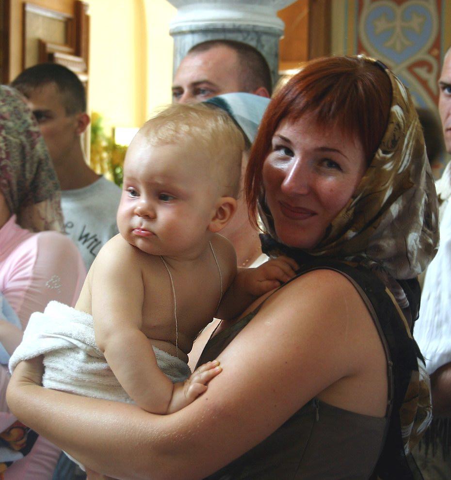 Крещение.. Я и моя малышка