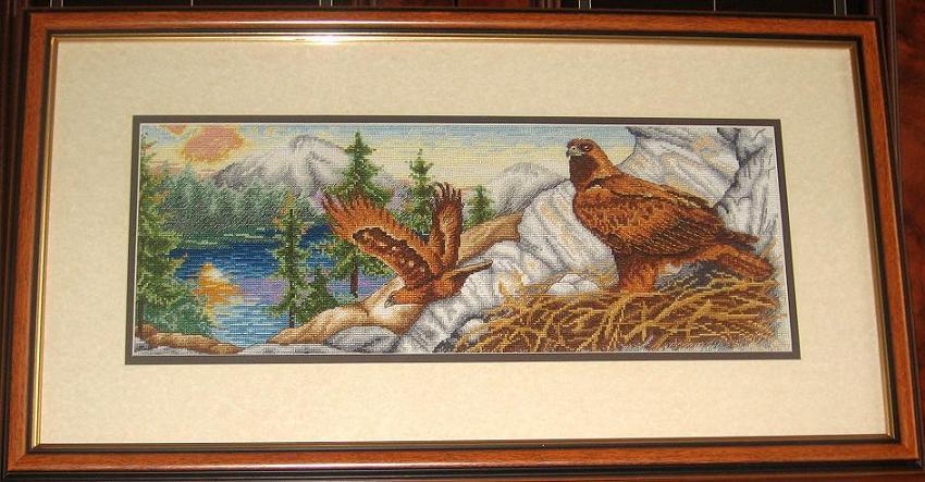 Гнездо орла (Anchor).. Конкурс вышитых работ 'Пейзажи'