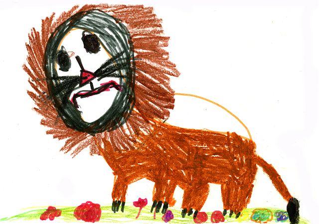 Лев.. Конкурс детского рисунка с ВООБРАЖАЛКИНЫМ