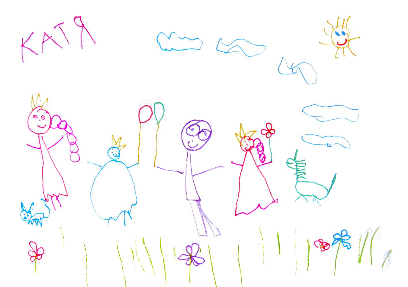 Папа, мама, Таня, я.... Конкурс детского рисунка с ВООБРАЖАЛКИНЫМ