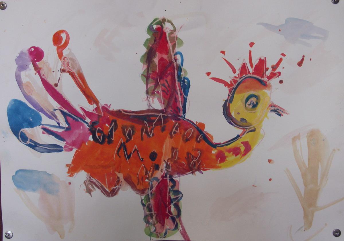жар-птица. Конкурс детского рисунка с ВООБРАЖАЛКИНЫМ