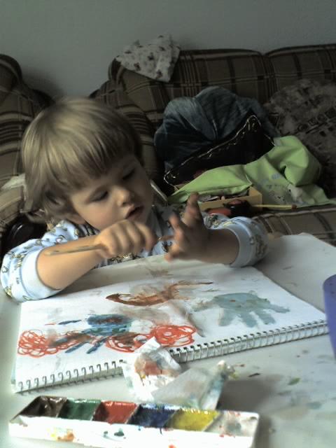 нарисуем ладошку. Малыши-карандаши