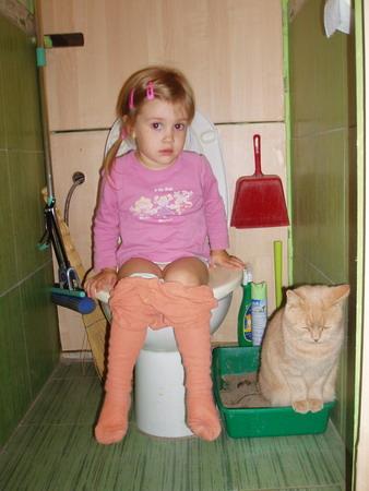 Идилия:))). Ребята и котята