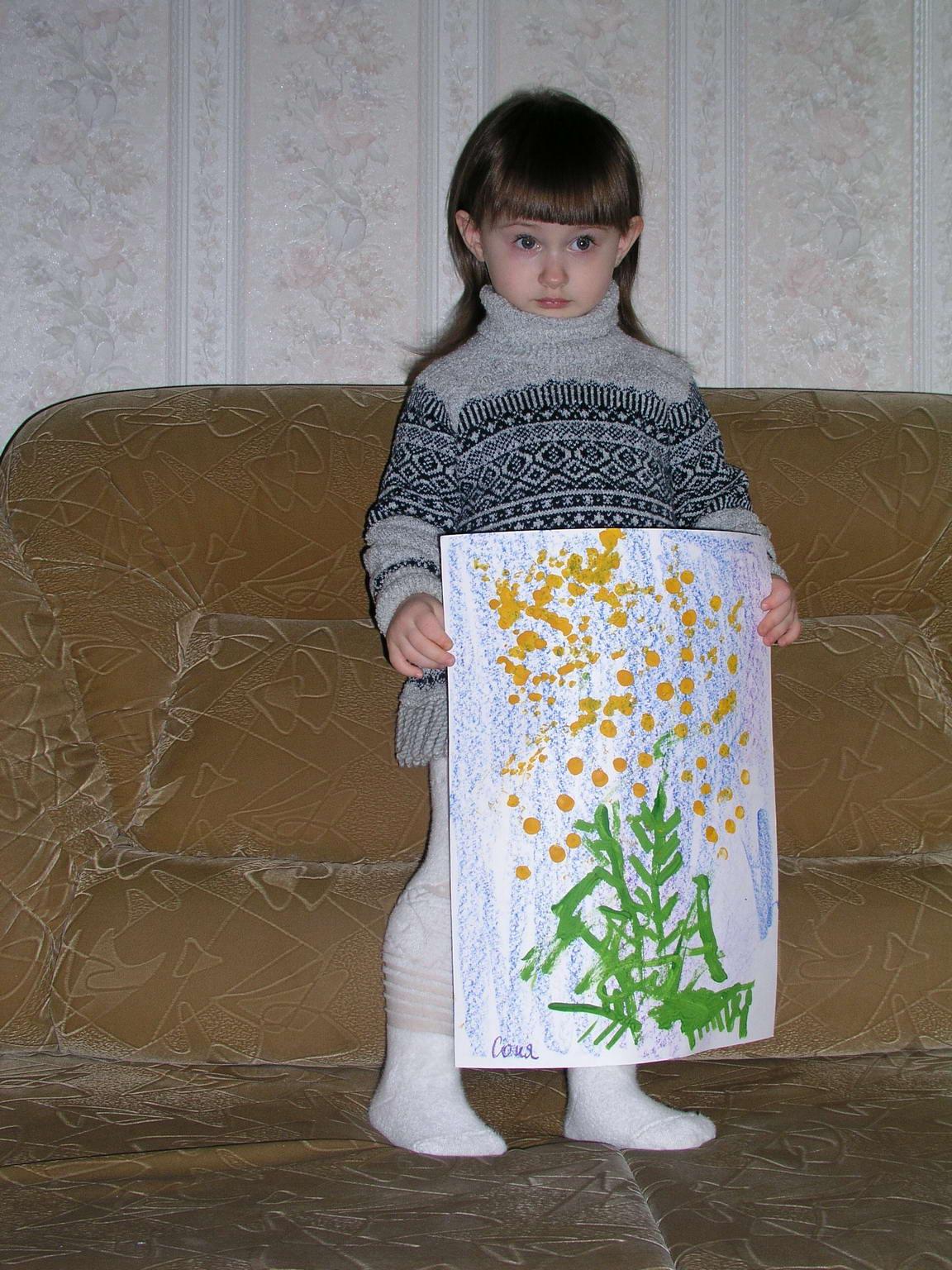 Мимозы для мамы:). Малыши-карандаши
