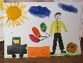 рисунок с апликацией из манки 'Моя мечта'. Конкурс детского рисунка с ВООБРАЖАЛКИНЫМ