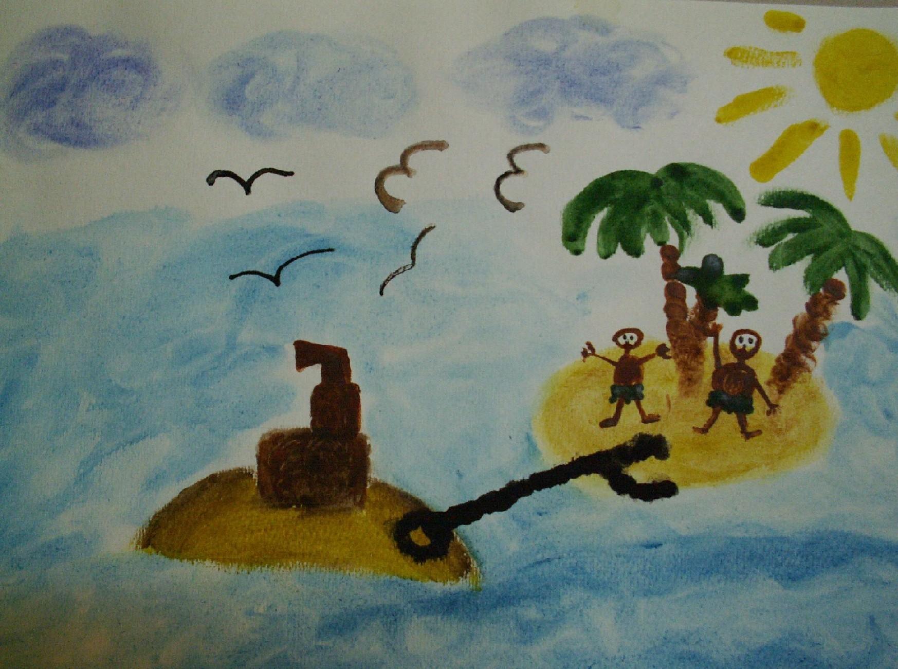 Лёша под впечатлением от отдыха на море. Конкурс детского рисунка с ВООБРАЖАЛКИНЫМ