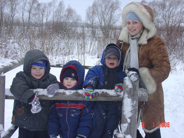 Зимняя прогулка c друзьями. Мы - веселые друзья