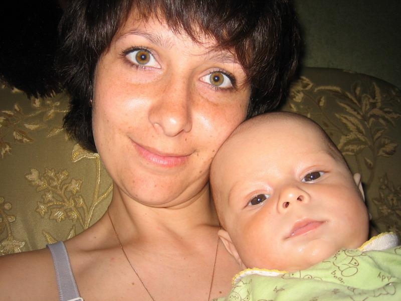 Мама и Матвей устали. Я и моя малышка