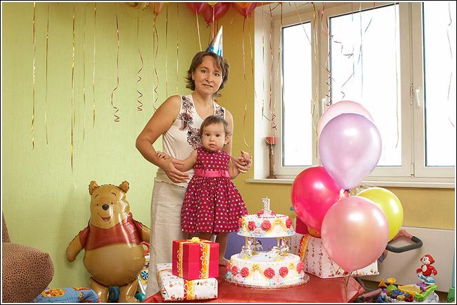Первый день рождения. Я и моя малышка
