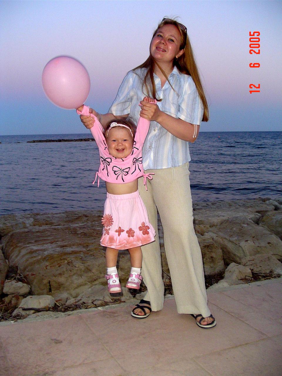 Море счастья. Я и моя малышка