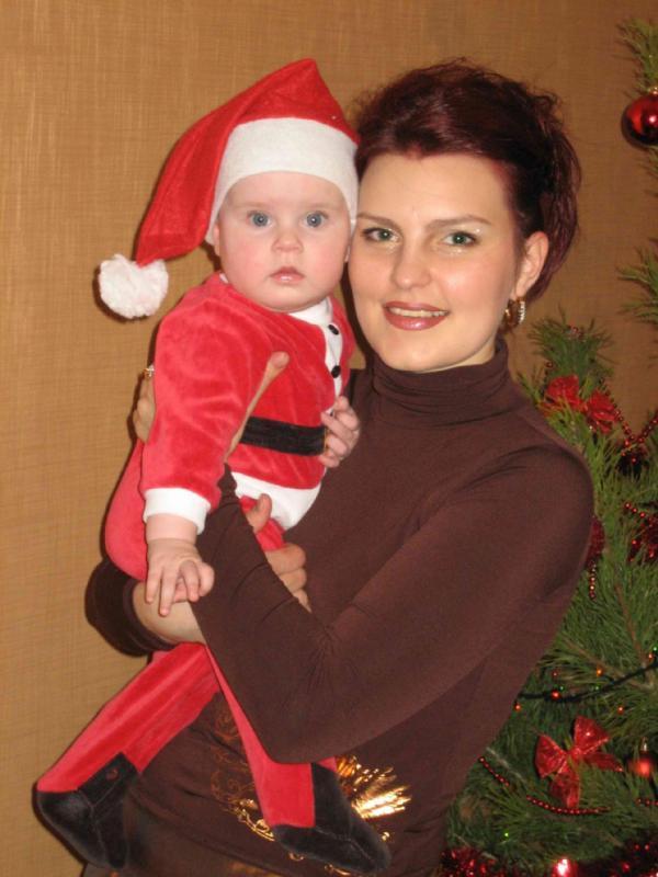 Я и мой Санта-Клаусенок. Я и моя малышка
