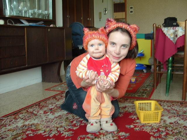 Мама кошка и доча киска:-)1. Я и моя малышка