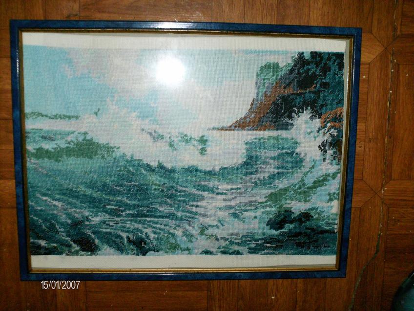 Волна. Конкурс вышитых работ 'Пейзажи'