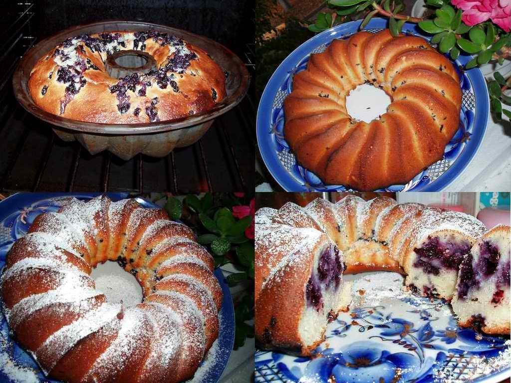 Этапы черничного пирога. Кулинарные шедевры