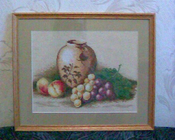 Виноград и персики. Натюрморты