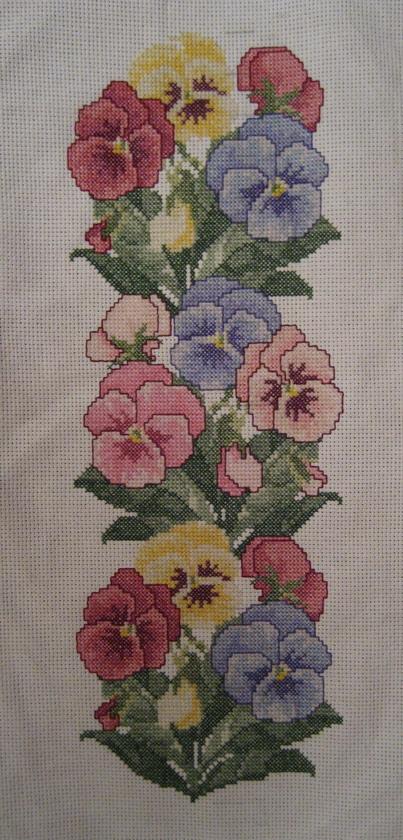 EMS 003 Pansy Border - Анютки. Растения (в основном цветы)