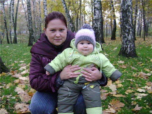 я и дочка. Вместе с мамой