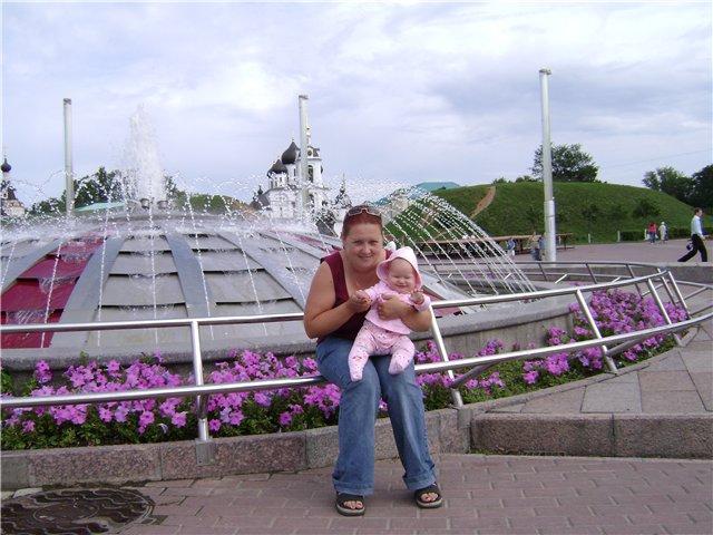 отдых г.Дмитров,центральная площадь. Вместе с мамой