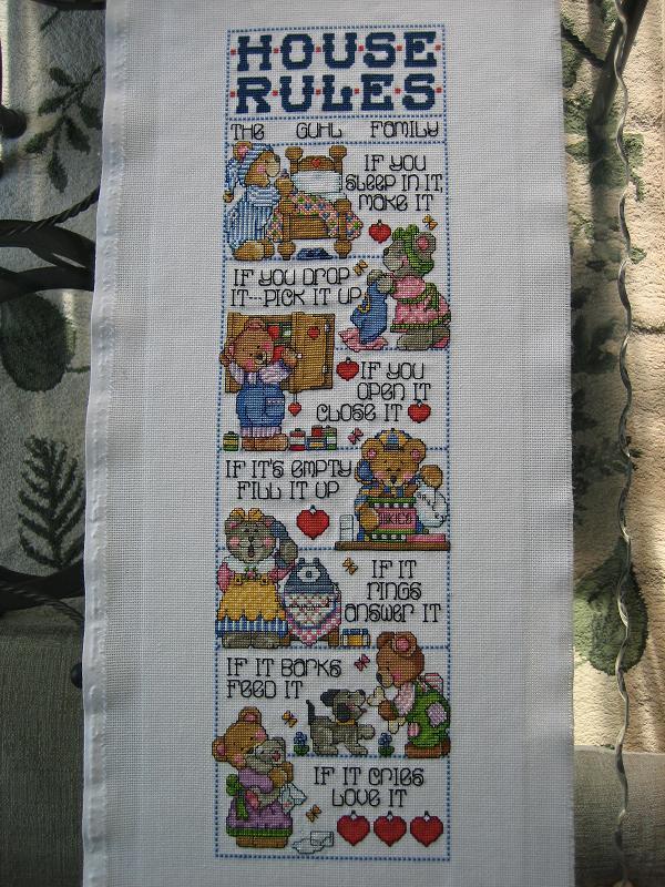 House rules.. Вышивка: алфавит, календари, метрики
