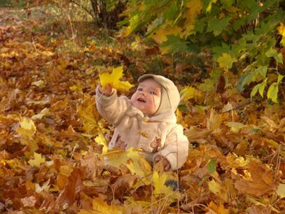 Мой первый шуршащий листочек. Закрытое голосование фотоконкурса 'Моя первая осень'