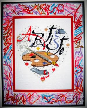 Artiste. Вышитые открытки