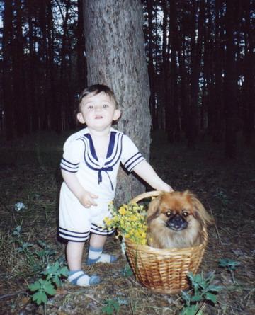 На пргулке с любимой собакой.. Друзья