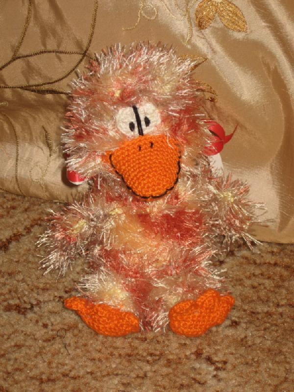 Птичка. Вязаные игрушки