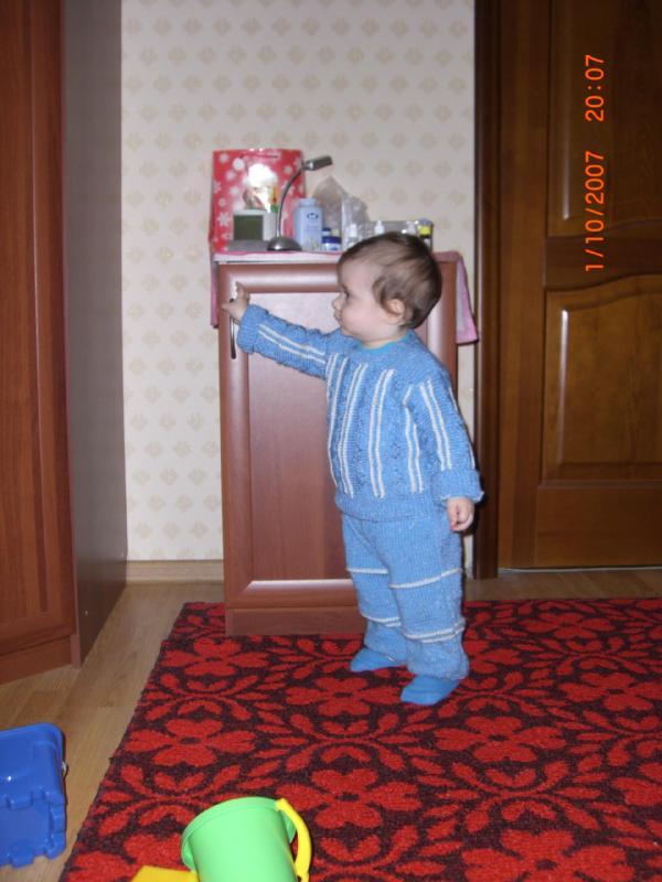 Голубой костюмчик-мамина работа. Одежда для детей