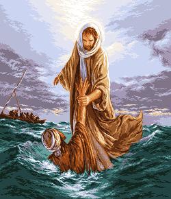 Jesus saving Petru - Иисус спасает Петра. Иконы и библейские сюжеты