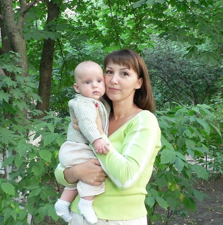 Мише 5 месяцев. Вместе с мамой