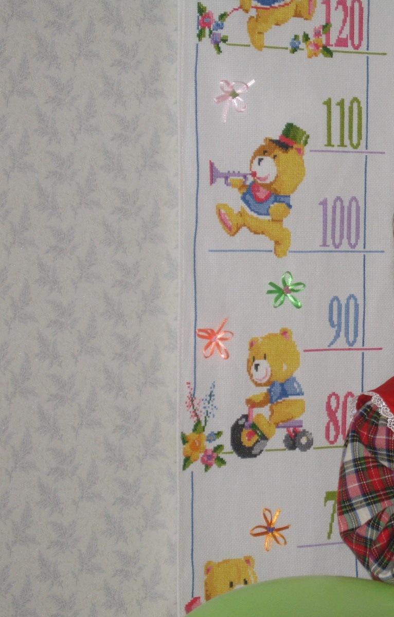 Ростомер для племянницы. Вышивка: алфавит, календари, метрики