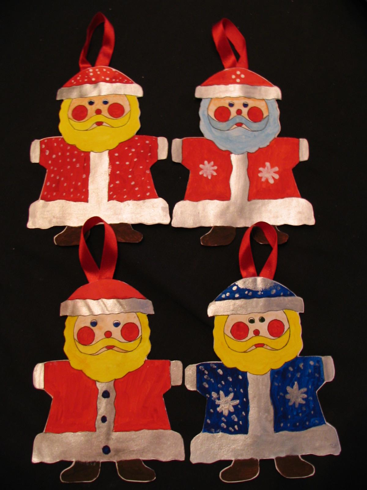 Новогоднее украшение Дед Мороз. Самодельные игрушки