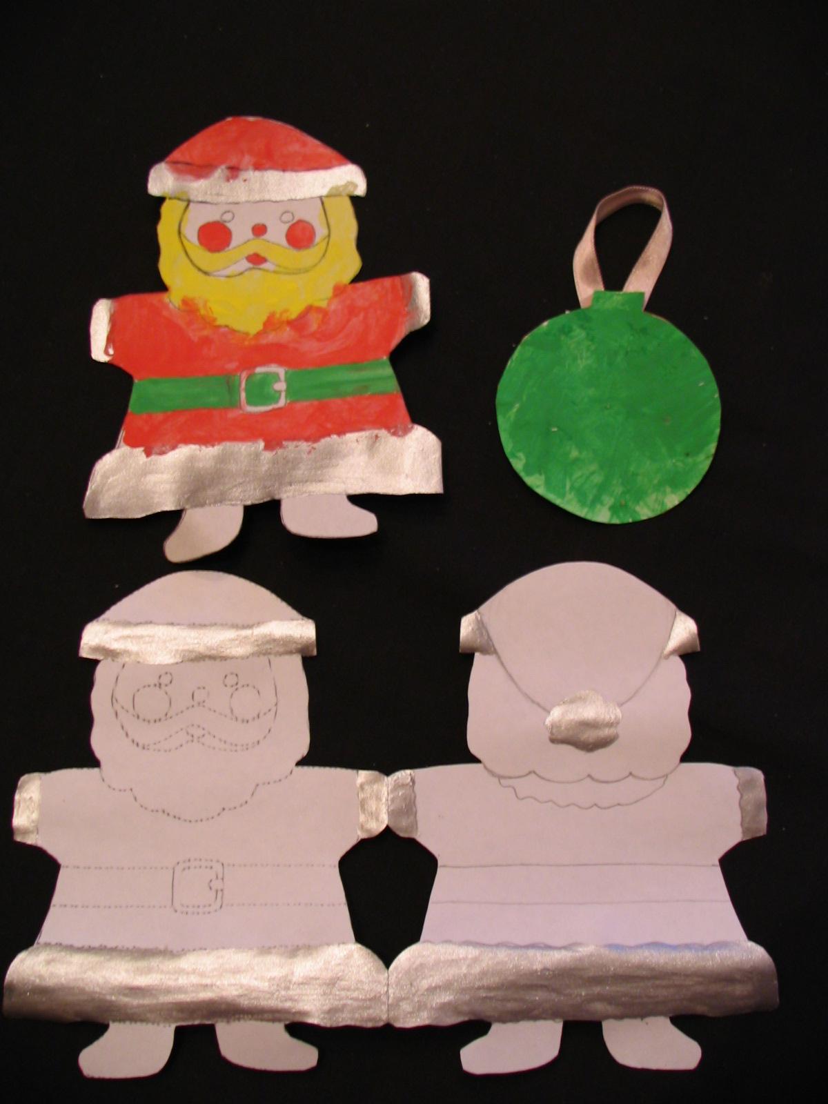 Заготовки для новогодних Дед Морозов и новогодней открытки. Самодельные игрушки