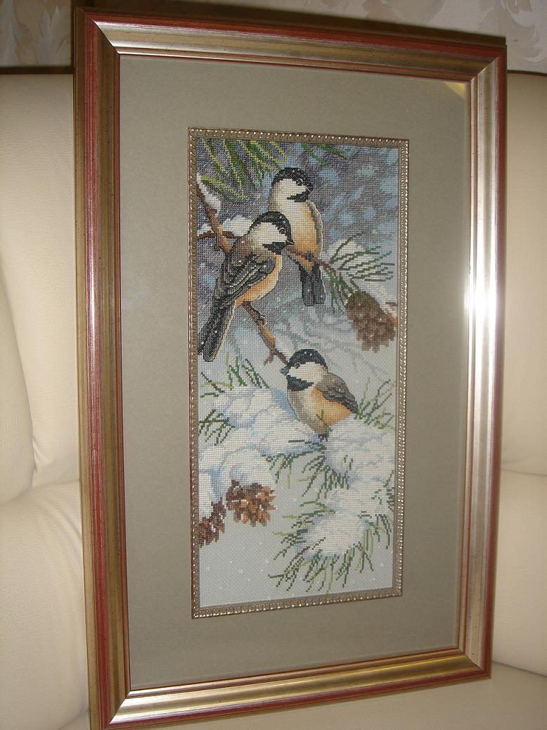Снегири и сосновые шишки (DIMENSIONS). Птицы