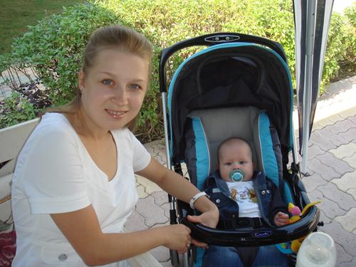 Мама и сын. Дети в колясках