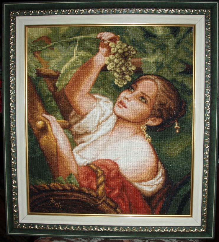 'Девушка собирающая виноград' диз. Стоянка. Женские образы
