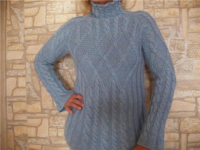 Голубой свитерок. Одежда
