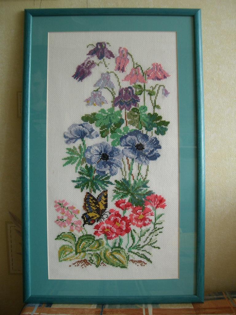 Садовые цветы. Конкурс вышитых работ Матушка-Весна