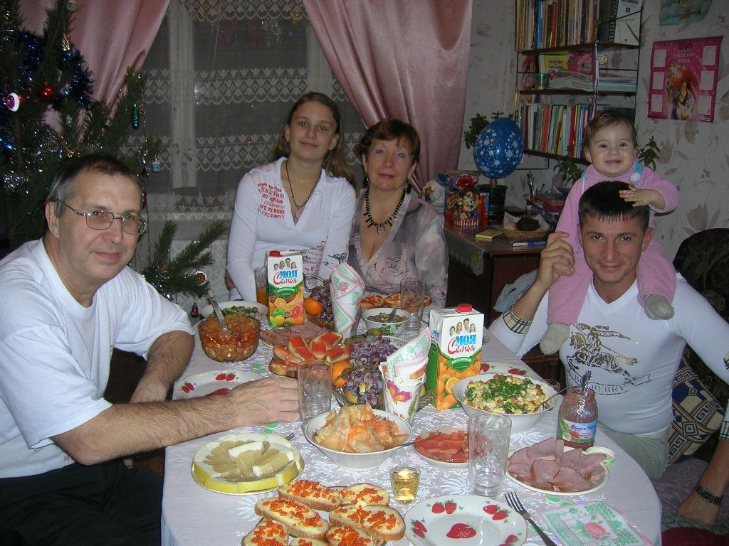 Встретим в кругу семьи   2007 год. Наша дружная семья - праздник дома удался!