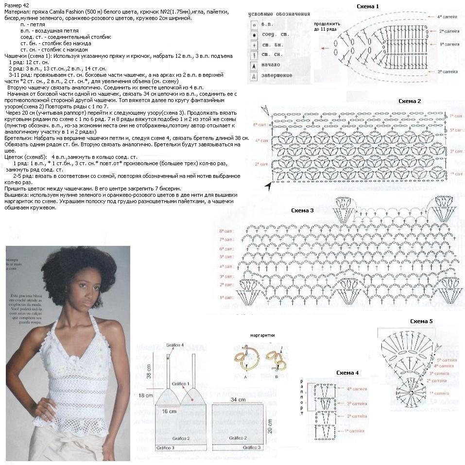 рака, выполненное нежный топ крючком схема и описание фото объявления алтайского